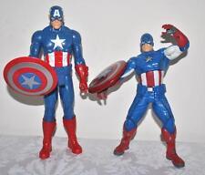 Captain America Action Figures Lot of 2 Ultra Strike & Titan Hero Hasbro