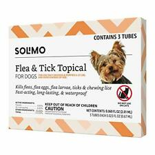 New listing Brand - Solimo for Dogs Small Dog 4-22 pounds Flea and Tick Treatment 3 Doses