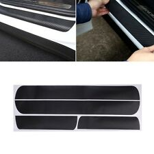 4Pc Car Door Scuff Sill Plates Step Plate Protector Carbon Sticker For Chevrolet