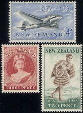 New Zealand 1955 Queen Elizabeth II/Plane/Transport/Maori/Mail 3v set (n24492)