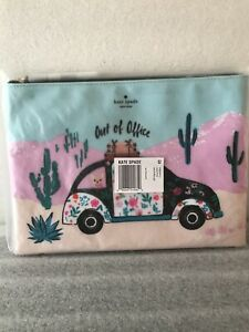 Kate Spade Out Of Office Scenic Route Car New Horizons Pouch Gia Clutch