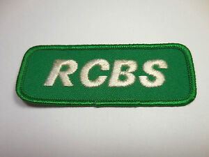 Vintage 1980's RCBS Embroidered Sewn Iron On Patch Reloading Shooting Reloader