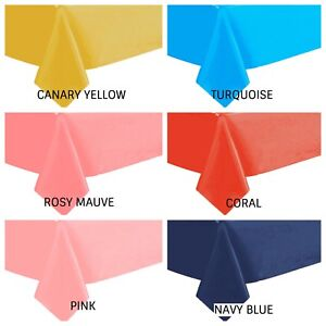 """54"""" X 108"""" Medium Weight Plastic TABLE COVER CHOOSE COLOR"""