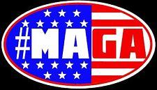 "BUMPER Auto Magnet #MAGA Donald Trump Make America Great Again   3.5"" x 6"""