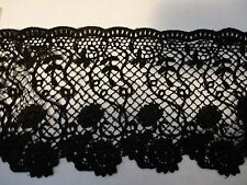 "Gorgeous Venise Lace in Black Rayon - 5"" Wide - 10 yds for $42.99"