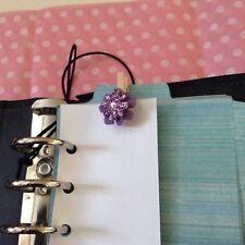 Filofax Today Page Marker Fits All Filofax LIMITED EDITION purple Flower