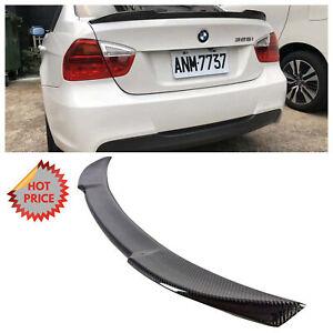 BMW 06-12 CS STYLE REAL CARBON FIBER TRUNK SPOILER FOR ALL E90 SEDAN *US SELLER*