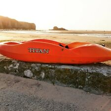 STILL SHIPPING Titan Kayaks Mix SOT Playboat with Free Paddle and Thigh Straps