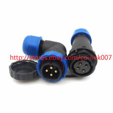 SD20TA-ZM 90° IP67 4pin Connector Industrial Power Cable Plug Panel Mount Adapte
