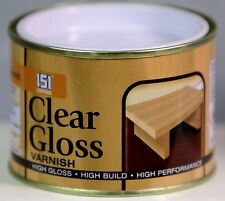 CLEAR GLOSS VARNISH PAINT Indoor Outdoor Top Coat Painting 180 ml
