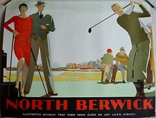 RE SOCIETY NORTH BERWICK GOLF COURSE LITHOGRAPH WCOA 47 X 36 3/4""