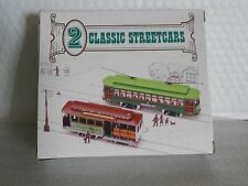 2 VINTAGE CLASSIC STREETCARS DESIRE ST POWELL & MASON ST Readers Digest HO SCALE