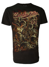Zombie Killer 13 Darkside Walking Skulls Dead Halloween Horror T-Shirt to 2XL 4C