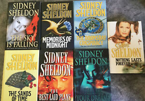 Sidney Sheldon - Lot of 7 Hardcover novels - Free And Quick Post From Sydney