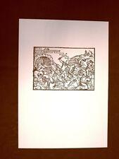 Litografia Natale Strage degli innocenti Biblia Sacra del 1669 Ristampa