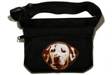 Embroidered Dog treat bag - for dog shows. Breed - Dalmatian (liver)