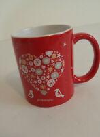 Philosophy Mug Red Christmas Heart Ceramic Warmth We Share