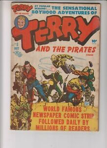 Terry and the Pirates 6 VG- (3.5) 10/47 Harvey Publications!