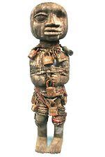 """Art Africain - Ancien Fétiche Fon à Cadenas - Visage Type """"Maladie"""" - 56 Cms +++"""