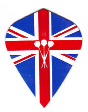 Dart Flights - 5 British Flag & Darts Kite Shape Sets