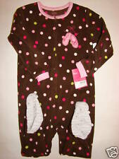 NWT Girl Carters Fleece BALLET Ballerina Footed  Sleeper 1 PC Pajamas 3T NEW