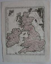 1796 Map UNITED KINGDON IRELAND Von Relly London Dublin Cardiff Edinburgh