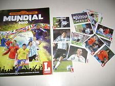 ALBUM ESTRELLAS DEL FUTBOL MUNDIAL 2010 + set of stickers + 14 cards complete
