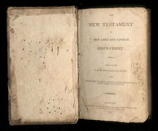 1813 American New Testament Bible Pub Printed Todds Clark & Crandle, H&E Phinney