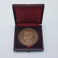 J.B POQUELIN MOLIERE French Writer & Poet Paris Mint BRONZE MEDALLION in Box