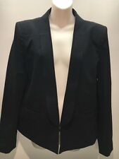 Country Road Smart Black Tuxedo Style Long Lapel Jacket Blazer Size 16 Fit 16 18
