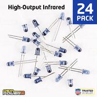 24 X RadioShack 5mm High-Output Infrared LED #2760143 BULK PACK NEW