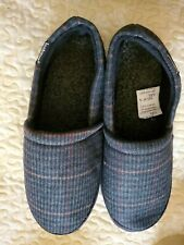 ISOTONER Men's Plaid Closed Back Slipper Cooling Memory Foam for IndoorOut 11/12