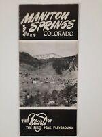 MANITOU SPRINGS Colorado VINTAGE travel BROCHURE Pike's PEAK