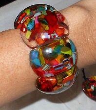 Sobral Classicos RJ Colorful Multi Mix Statement Bracelet Brazil Import