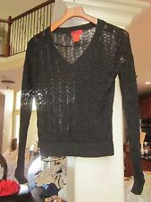 Missoni for Target Black Chevron Zig Zag V Neck Thin Sweater M  (box3)