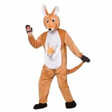 Kangaroo Mascot Adults Fancy Dress Zoo Aussie Animal Mens Ladies Womens Costume