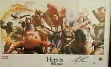 Marvel Heroes Litho  802 / 899  Alex Ross Dynamic Forces COA