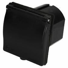 230v Mains 16A Flush Inlet Socket Black Caravan Motorhome Trailer Hook Up