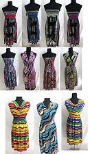 US SELLER-lot of 4 wholesale summer sundress short dress wholesale summer women