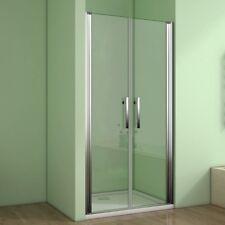 90cm Duschkabine Duschabtrennung Nischentür Pendeltür Duschtür Dusche Nano Glas