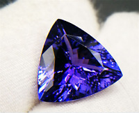 High quality. AAAAA+ LOOSE GEMSTONE UNHEATED BLUE COLOR TANZANITE 12mm TRIANGLE