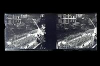 Parigi Champs-Elysées Parata Militaire Francia Placca Da Lente Stereo