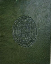 Dartmouth College Seal Antique c1910 Dark Green Tooled Leather Tobacco Premium