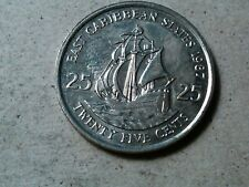 East Caribbean States 25 cents 1987 Ship coin