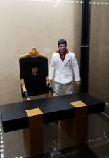 blitzway custom NO DOLL! scarface tony montana set trono +desk  throne1/6 scale