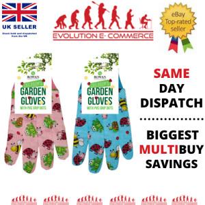 Safety Gardening Gloves Childrens - Kids Boys Girls Fun Garden Tool Hand Plant