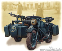 Master Box 3528 - German motorcycle WW II War Stronger Men 1/35 scale