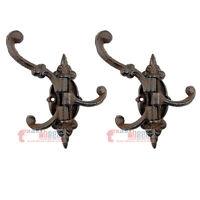 Black Cast Iron Tack Saddle Hook Style Coat Key Cap Towel Hanger Rack Hall Tree