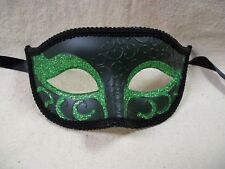 Green Glitter Eye Mask Royal Masquerade Ball Venetian Wicked Witch Poison Ivy
