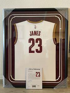 LeBron James Signed Autographed Framed Jersey PSA UDA Cleveland Cavaliers Goat